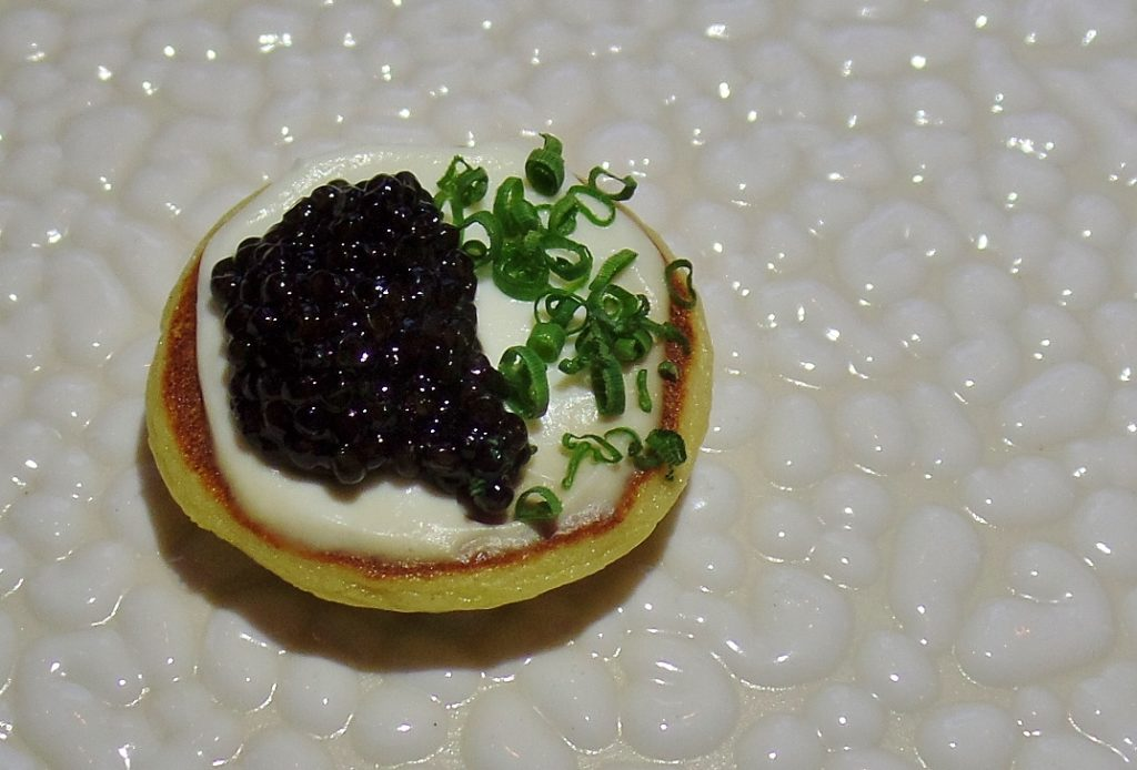 Blini with Acadian caviar