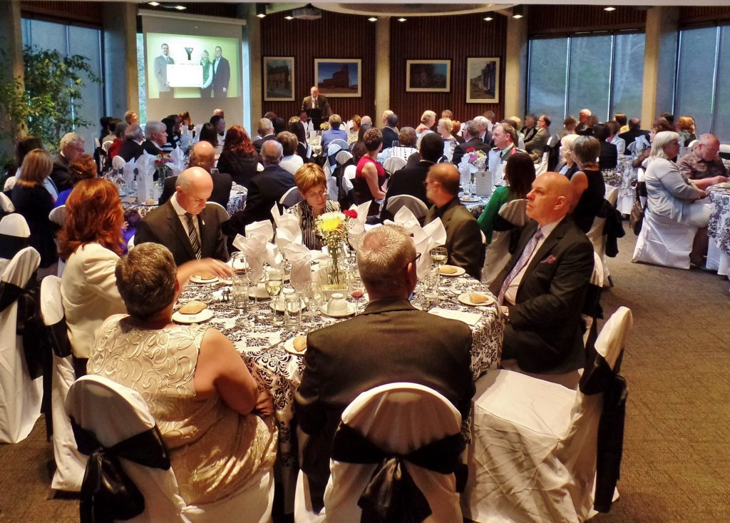 Guests dine at Freedom of the City event