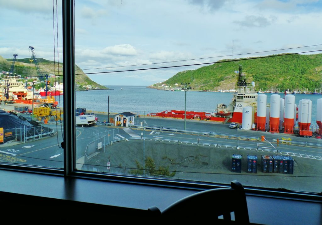 View of St. John's Harbour from inside Granite