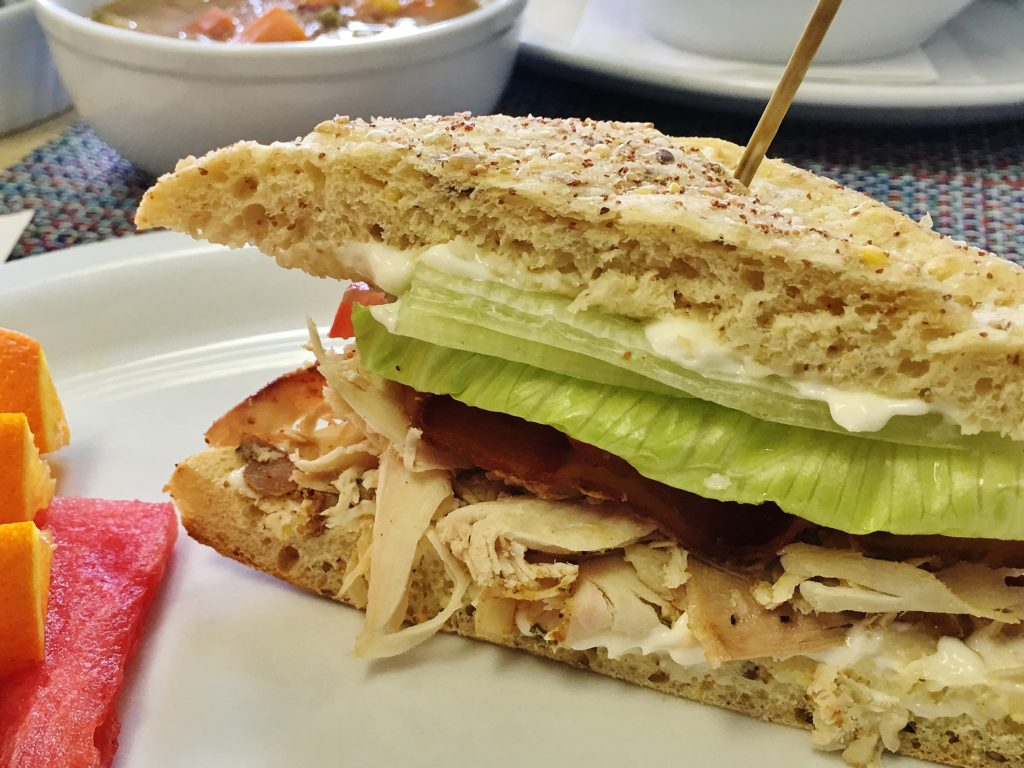 Crooked Phil's turkey club sandwich