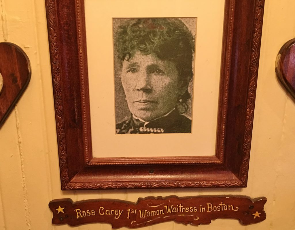 Rose Carey, Boston's first waitress