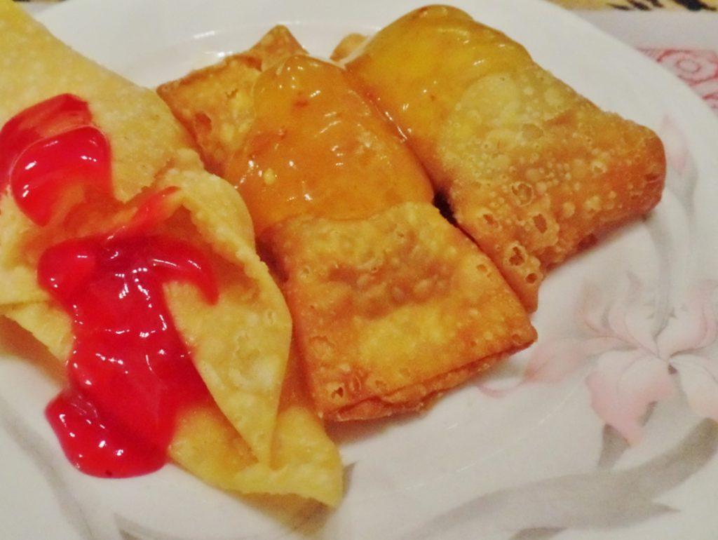 Sequerra's fried wontons and egg rolls
