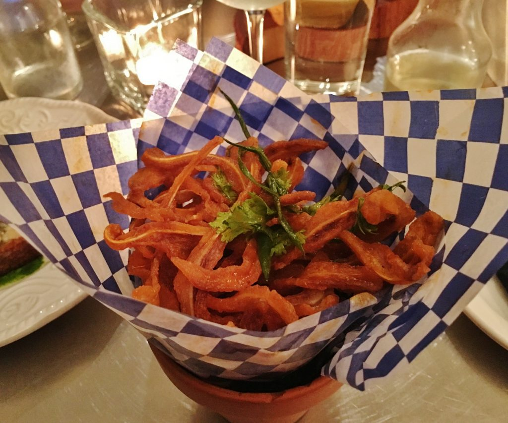 Chinched pig ear fries